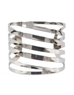 Bracelet Manchette large ajouré entrelacé