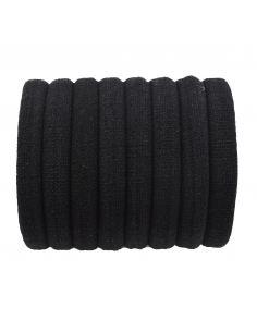 Lot d'élastiques chouchous noir - 8 pcs