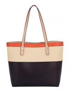 Grand sac shopping fourre tout avec pochette - Ensemble 2 pcs