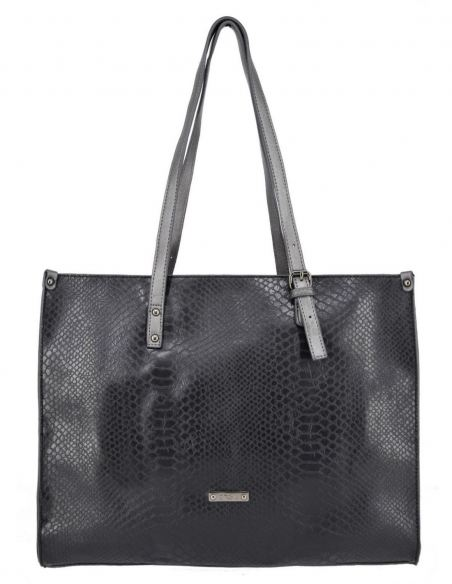 Grand sac shopping David Jones effet Python et anses réglables
