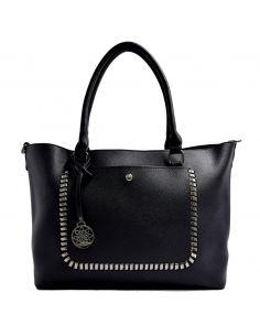 Grand sac à main cabas à chaînes et poche avant