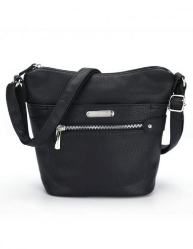 David Jones - Sac à Main Bandoulière Femme Vintage Multi Poche Zip
