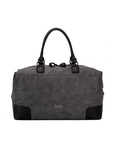 Sac Voyage Weekend - Grand Fourre-Tout Cuir Toile Bagage Cabine Multifonction Sport Bandoulière Epaule