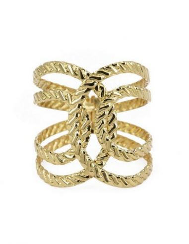 Bracelet manchette torsade