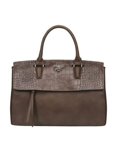 Grand Sac à Main Cartable Cuir Crocodile