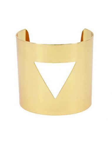 Bracelet manchette moderne triangle