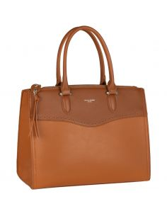 David Jones - Sac à main de ville élégant similicuir femme - Marron Camel