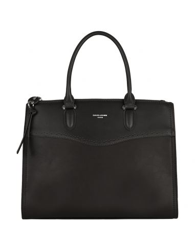 David Jones - Sac à main de ville élégant similicuir femme - Noir