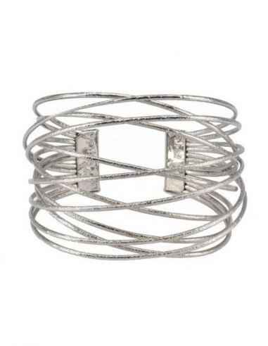 Bracelet manchette fil métal