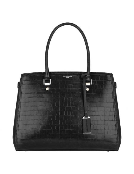 David Jones - Grand Sac à Main Cabas Motif Crocodile Noir