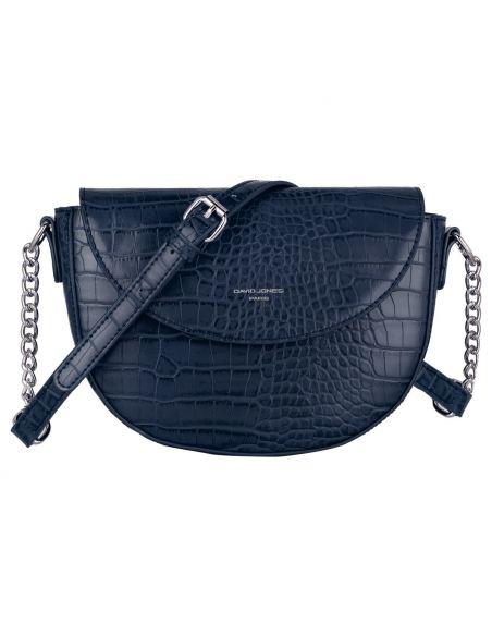 David Jones - Petit sac à main bandoulière cuir crocodile pour femme - Bleu