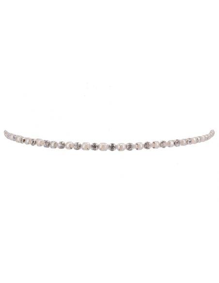 Headband à perles et strass