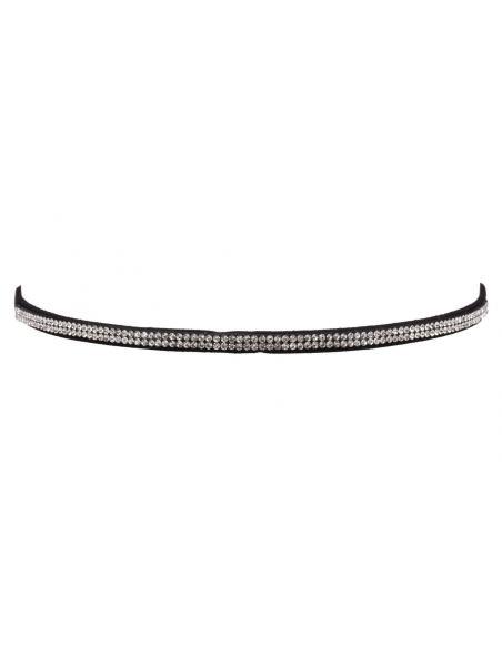 Headband à double rangée de strass