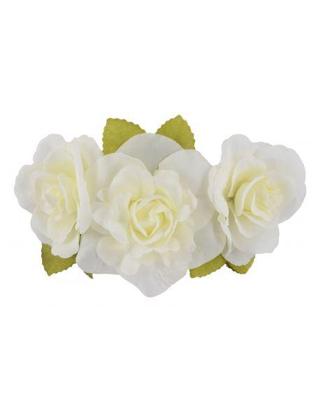 Headband avec 3 grosses fleurs