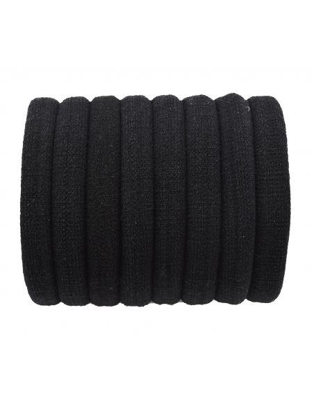 Lot de 8 élastiques noir